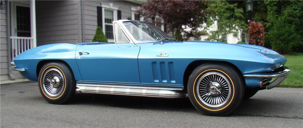 1965 CHEVROLET CORVETTE CONVERTIBLE - Side Profile - 79612
