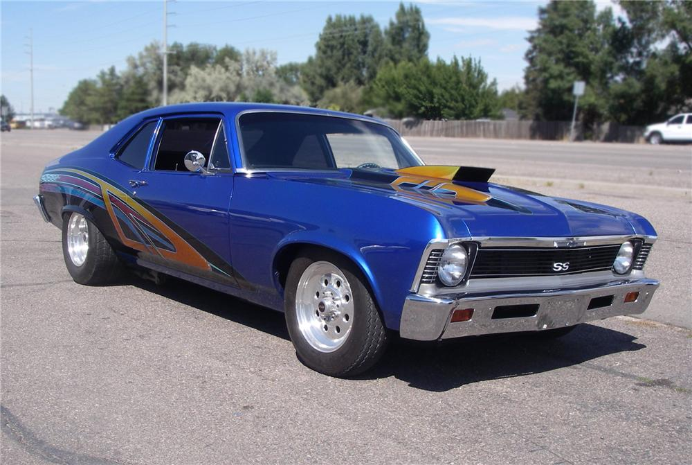 1969 CHEVROLET NOVA SS CUSTOM COUPE - Front 3/4 - 79628