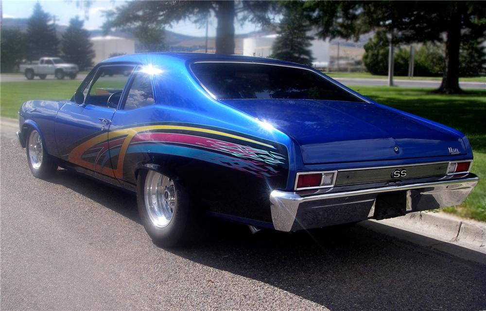 1969 CHEVROLET NOVA SS CUSTOM COUPE - Rear 3/4 - 79628
