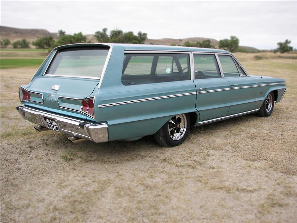 1966 DODGE POLARA STATION WAGON - Rear 3/4 - 79644