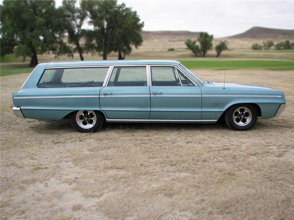 1966 DODGE POLARA STATION WAGON - Side Profile - 79644