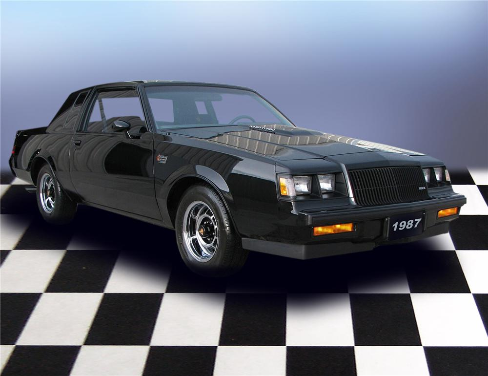 1987 BUICK REGAL GRAND NATIONAL T-TOP COUPE - Front 3/4 - 79651