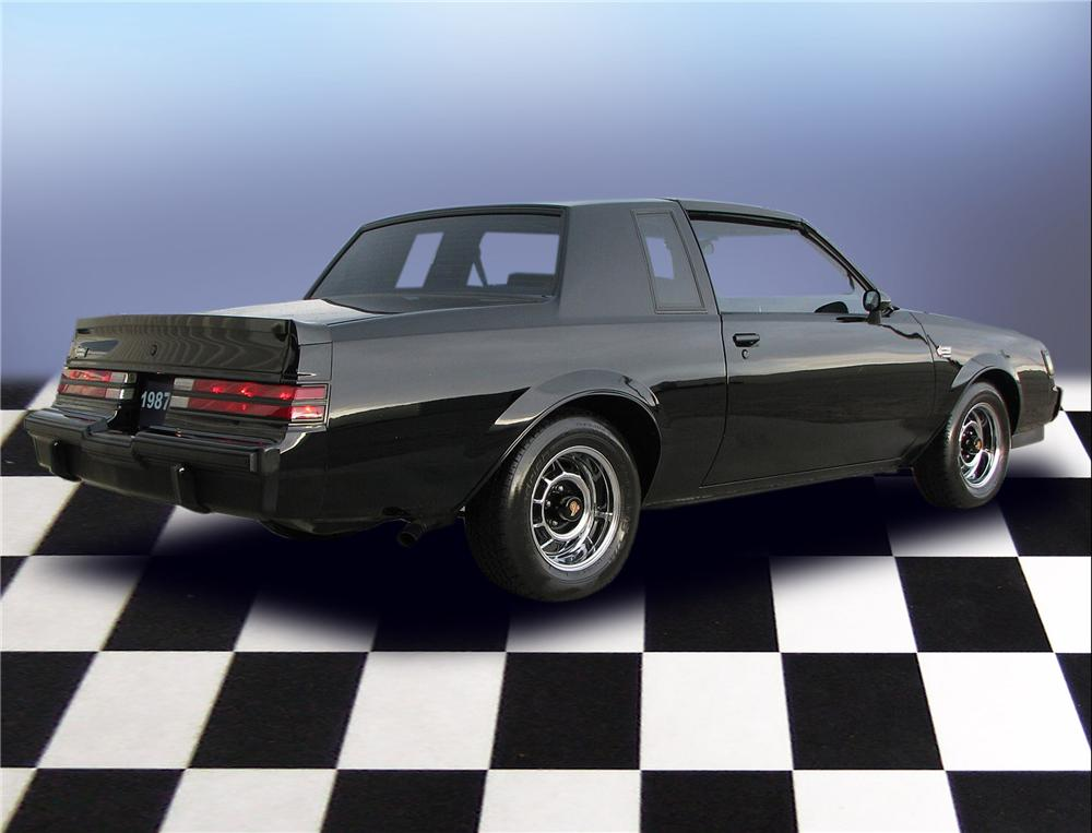 1987 BUICK REGAL GRAND NATIONAL T-TOP COUPE - Rear 3/4 - 79651