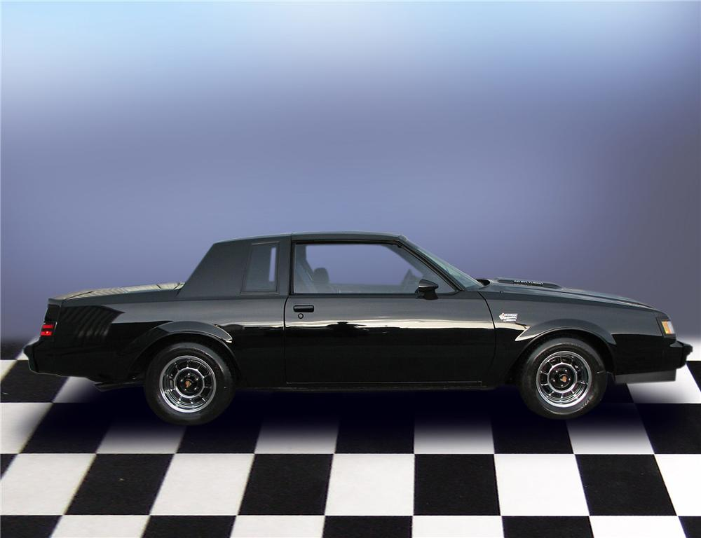 1987 BUICK REGAL GRAND NATIONAL T-TOP COUPE - Side Profile - 79651