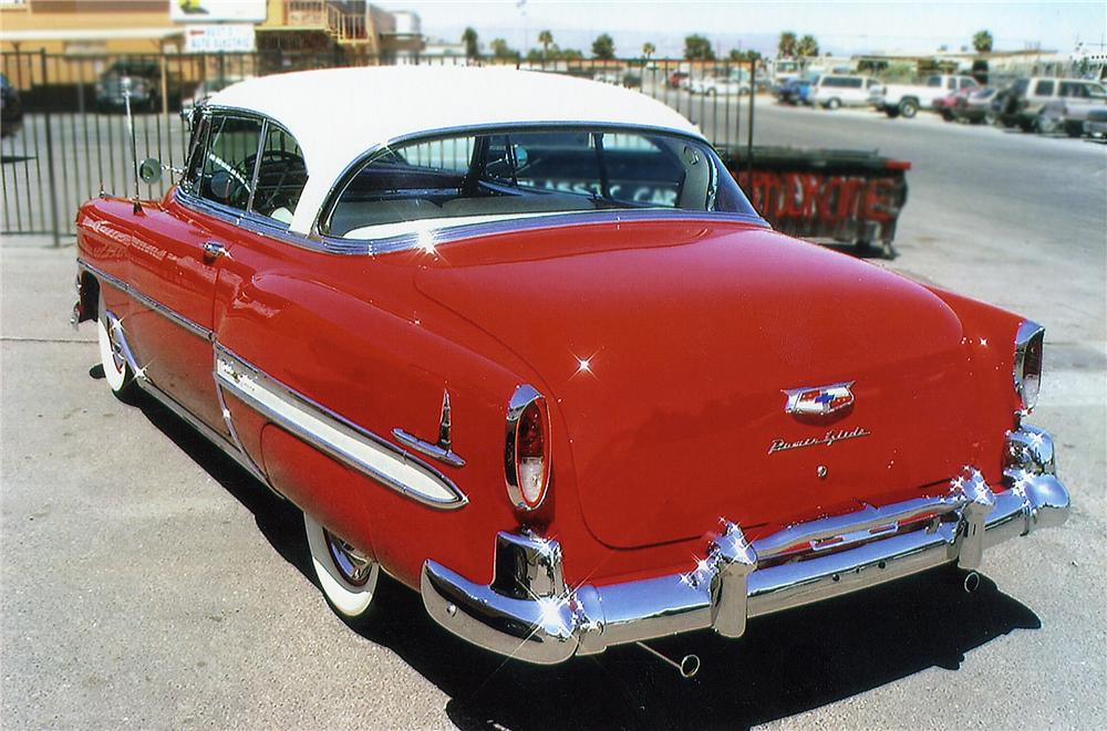 1954 CHEVROLET BEL AIR COUPE - Rear 3/4 - 79706