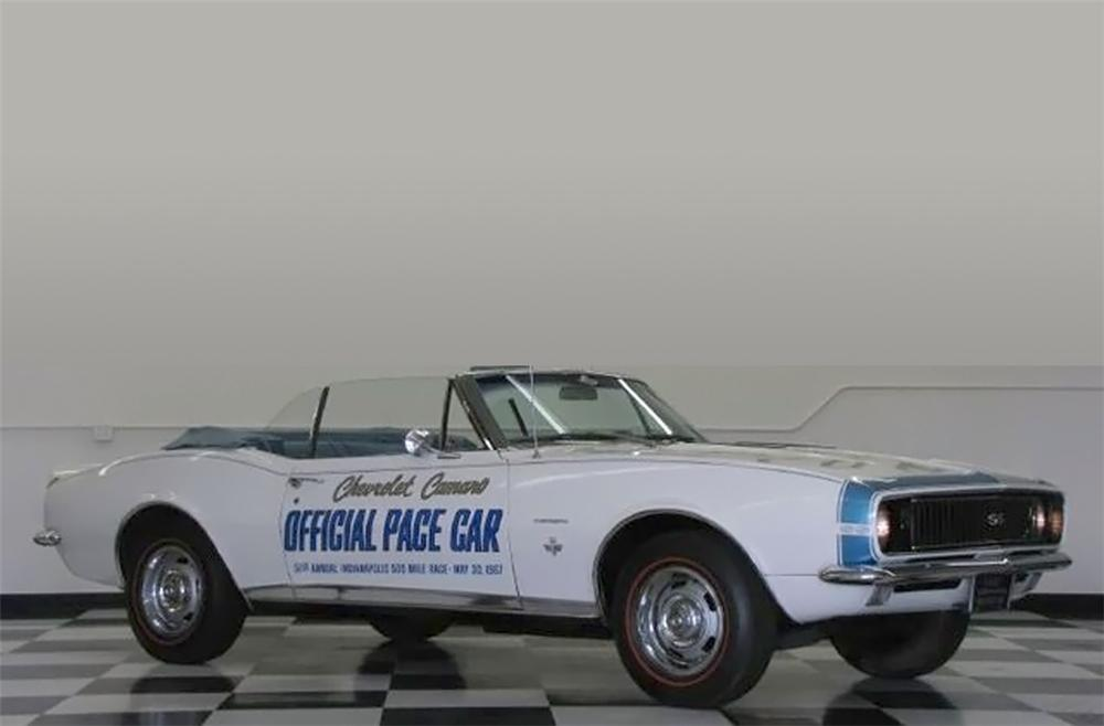 1967 CHEVROLET CAMARO INDY PACE CAR CONVERTIBLE - Front 3/4 - 79751