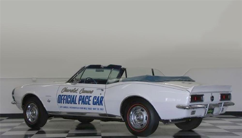 1967 CHEVROLET CAMARO INDY PACE CAR CONVERTIBLE - Rear 3/4 - 79751