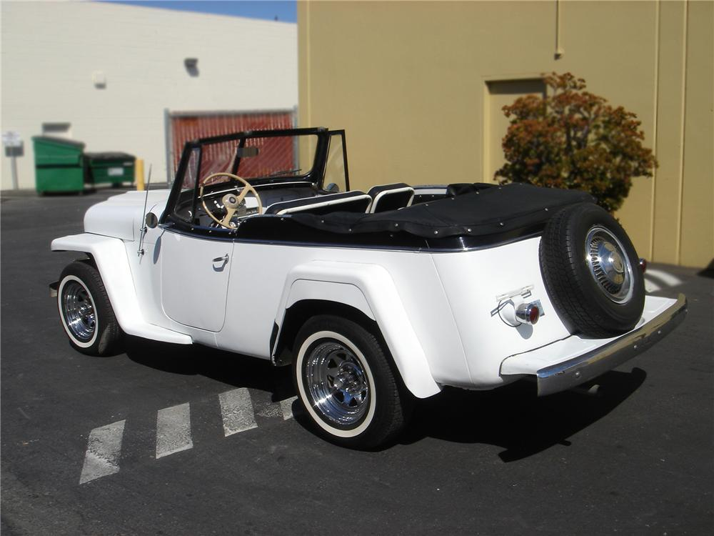 1950 WILLYS JEEPSTER PHAETON - Rear 3/4 - 79758