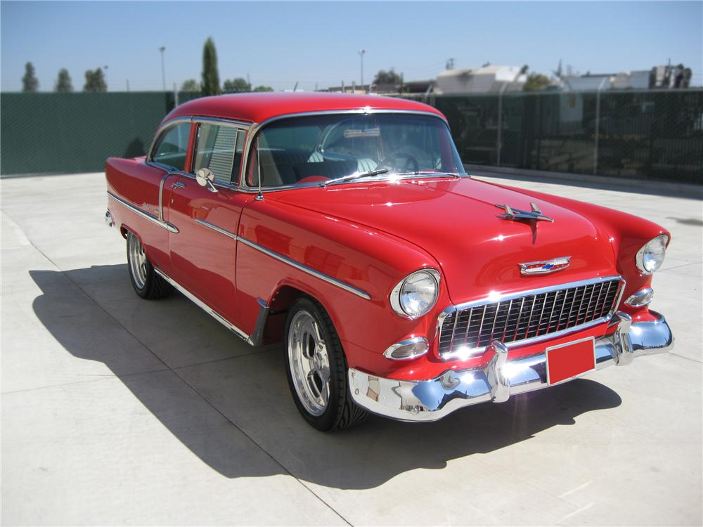 1955 CHEVROLET BEL AIR CUSTOM 2 DOOR HARDTOP - Front 3/4 - 79780