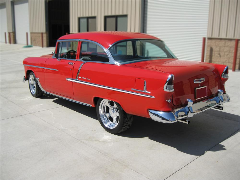 1955 CHEVROLET BEL AIR CUSTOM 2 DOOR HARDTOP - Rear 3/4 - 79780