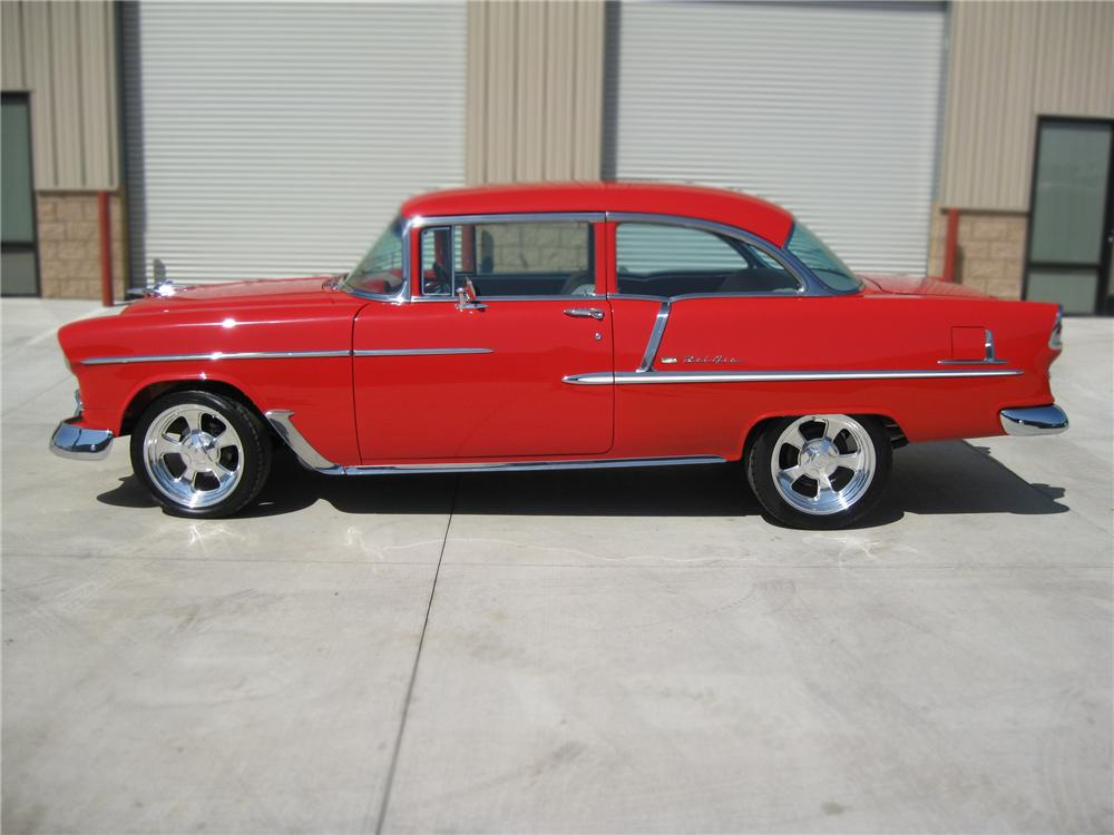 1955 CHEVROLET BEL AIR CUSTOM 2 DOOR HARDTOP - Side Profile - 79780