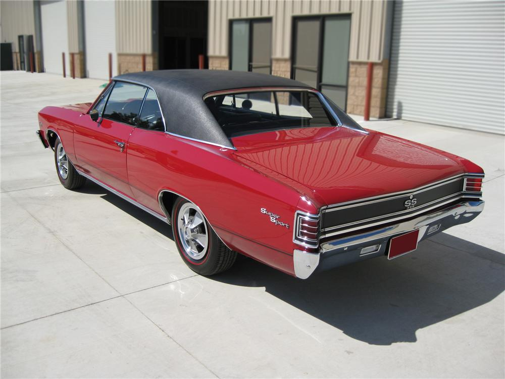 1967 CHEVROLET CHEVELLE SS 2 DOOR HARDTOP - Rear 3/4 - 79781