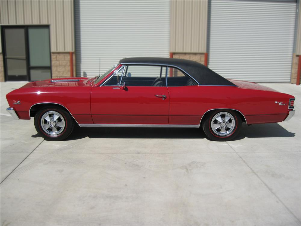 1967 CHEVROLET CHEVELLE SS 2 DOOR HARDTOP - Side Profile - 79781