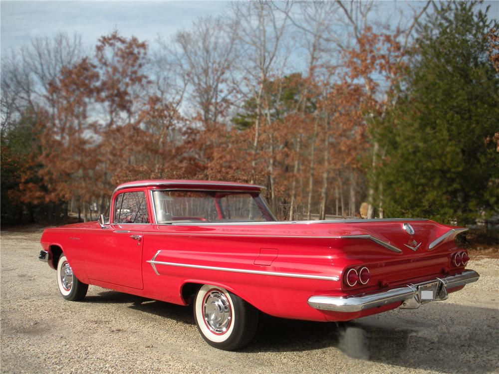 1960 CHEVROLET EL CAMINO PICKUP - Rear 3/4 - 79794