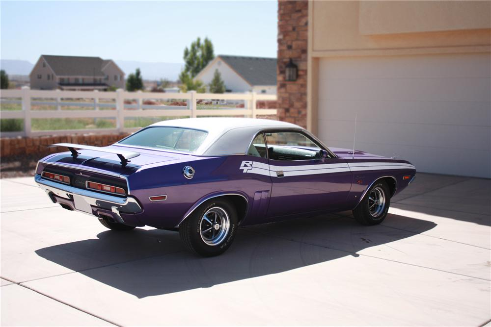 1971 DODGE CHALLENGER R/T 2 DOOR HARDTOP - Rear 3/4 - 79803