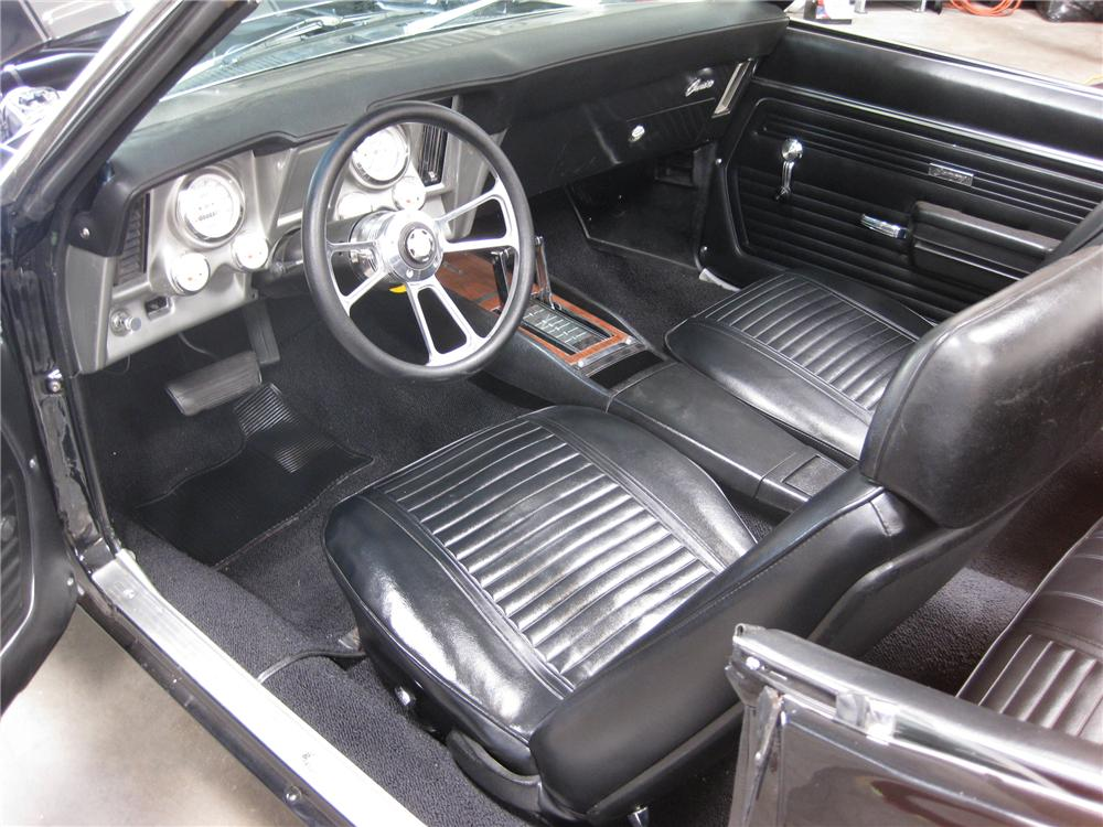 1969 CHEVROLET CAMARO CUSTOM CONVERTIBLE - Interior - 79831