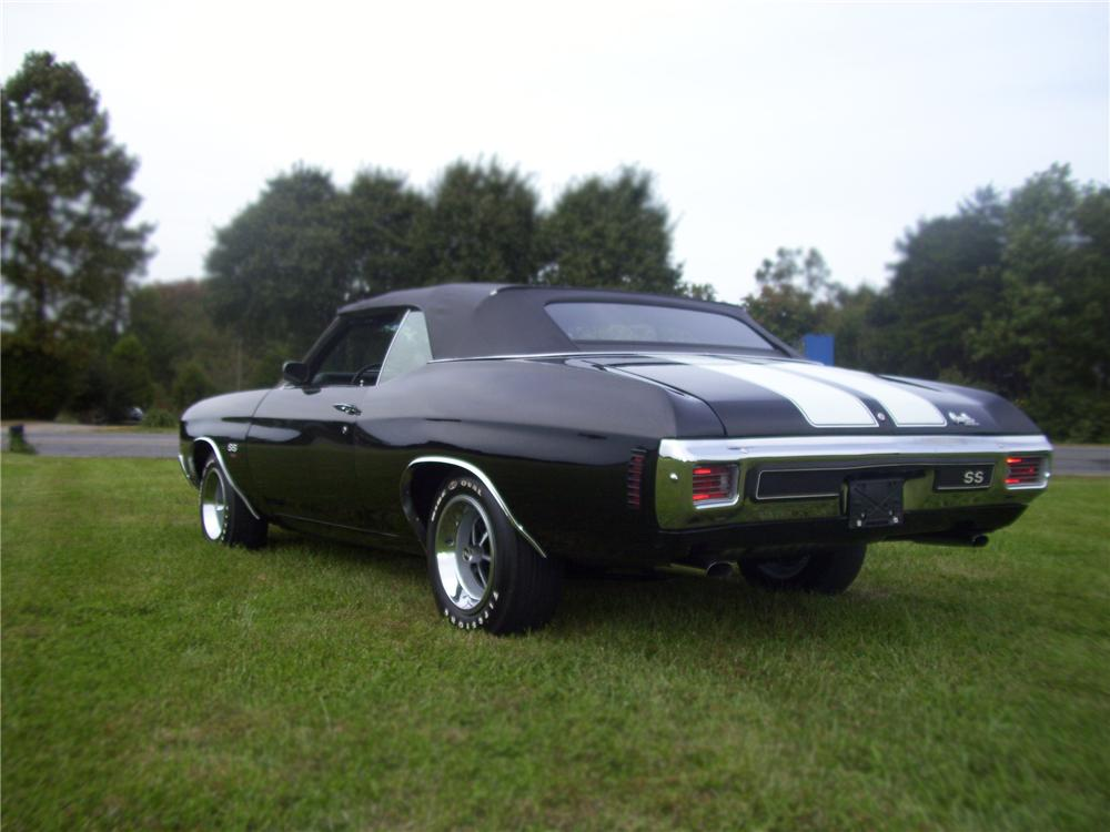 1970 CHEVROLET CHEVELLE SS 454 CONVERTIBLE - Rear 3/4 - 79855