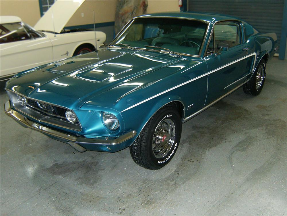 1968 FORD MUSTANG GT FASTBACK - Front 3/4 - 79880