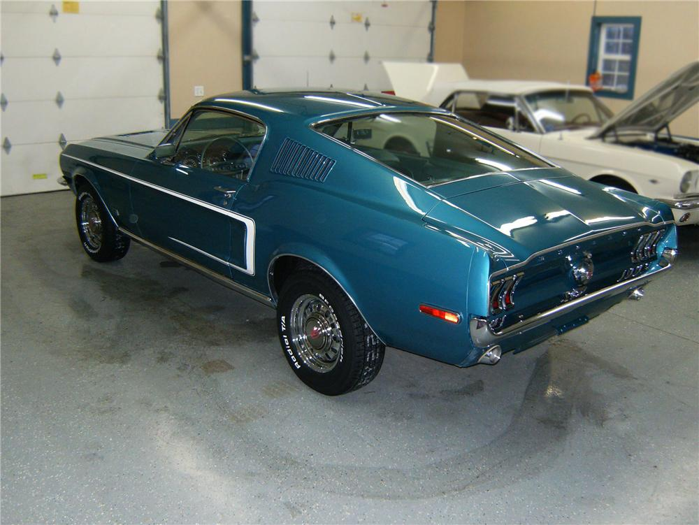 1968 FORD MUSTANG GT FASTBACK - Rear 3/4 - 79880