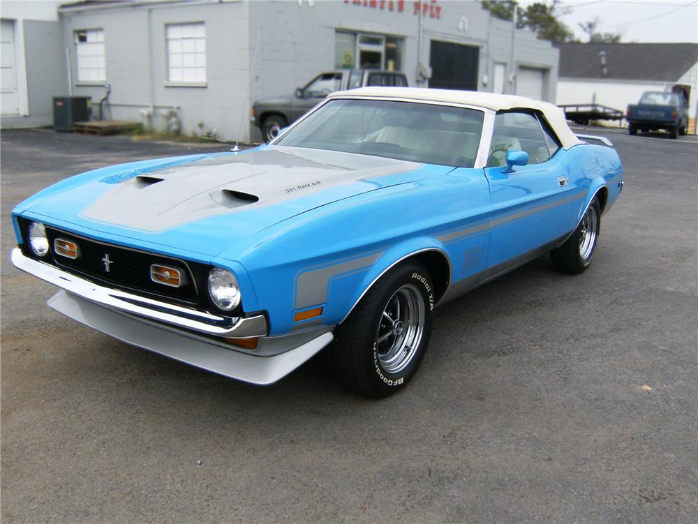 1973 FORD MUSTANG CONVERTIBLE - Front 3/4 - 79881
