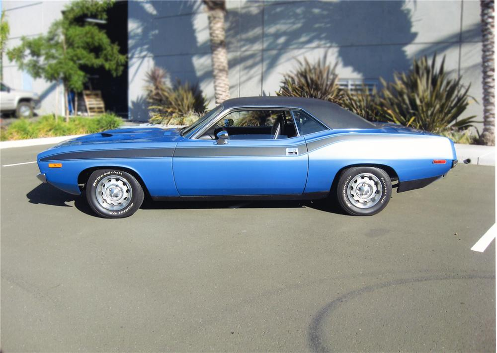 1972 PLYMOUTH CUDA 2 DOOR HARDTOP - Side Profile - 79884