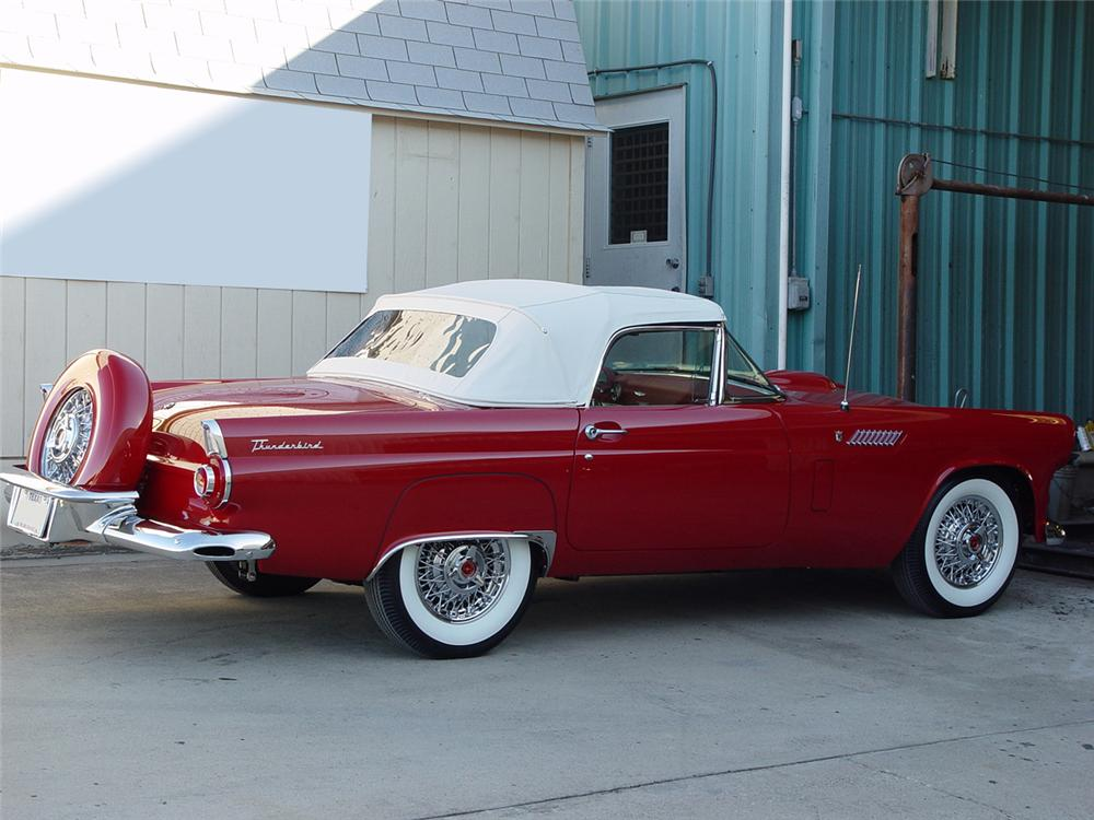 1956 FORD THUNDERBIRD CONVERTIBLE - Side Profile - 80905