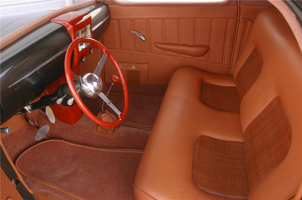 1935 FORD 3 WINDOW CUSTOM COUPE - Interior - 80912