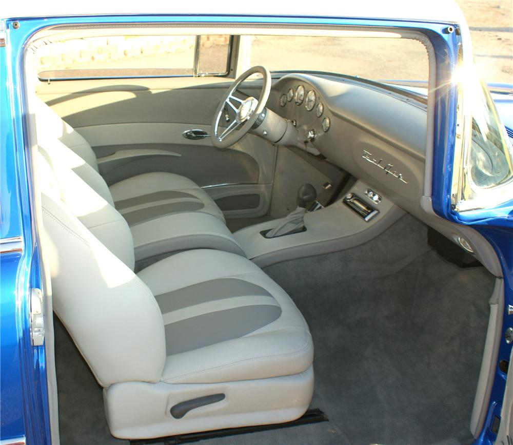 1955 CHEVROLET BEL AIR CUSTOM 2 DOOR SEDAN - Interior - 80916