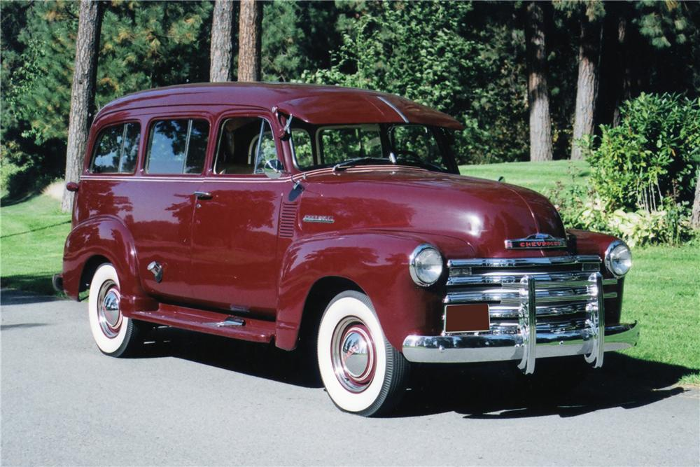 1951 CHEVROLET SUBURBAN CARRYALL WINDOW VAN - 80929