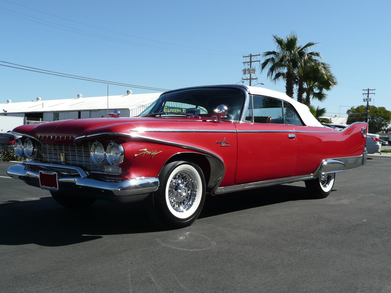 1960 PLYMOUTH FURY CONVERTIBLE - Front 3/4 - 80939