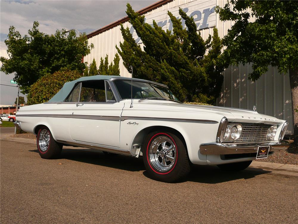 1963 PLYMOUTH SPORT FURY CONVERTIBLE - Front 3/4 - 80941