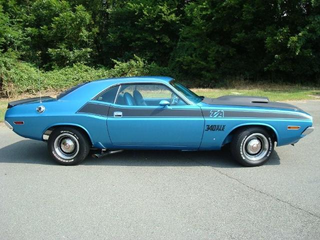1970 DODGE CHALLENGER T/A 2 DOOR HARDTOP - Side Profile - 80954