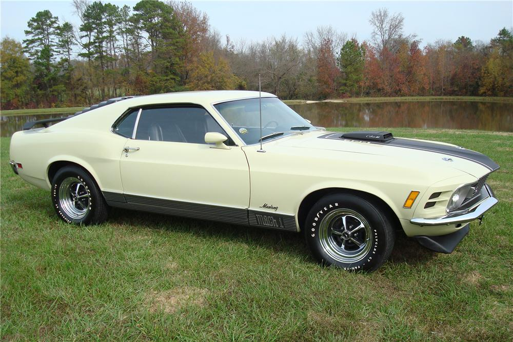1970 FORD MUSTANG MACH 1 FASTBACK - Front 3/4 - 80955