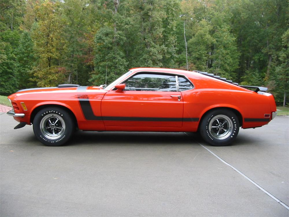1970 FORD MUSTANG BOSS 302 FASTBACK - Side Profile - 80956