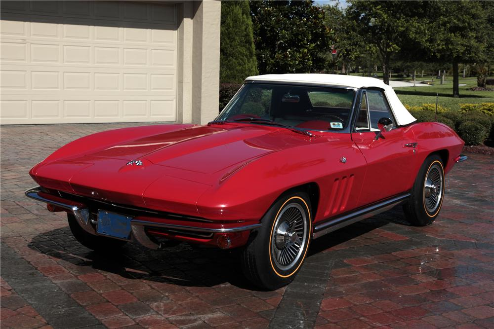 1965 CHEVROLET CORVETTE CONVERTIBLE - Front 3/4 - 80963