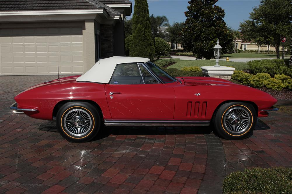 1965 CHEVROLET CORVETTE CONVERTIBLE - Side Profile - 80963