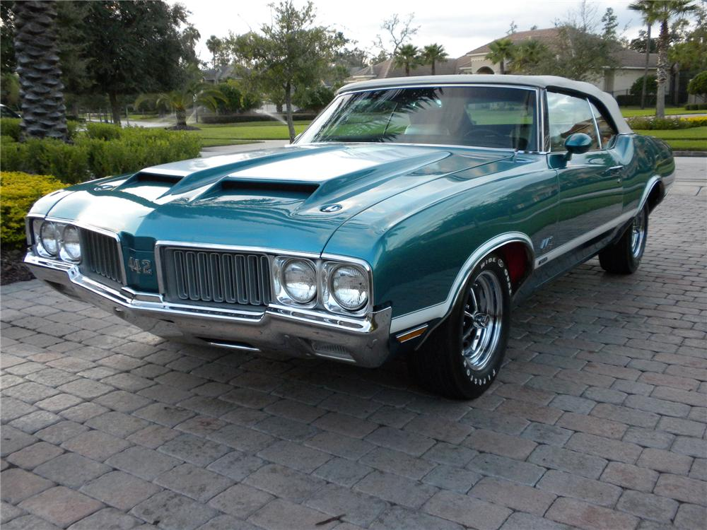 1970 OLDSMOBILE 442 W30 CONVERTIBLE - Front 3/4 - 80964