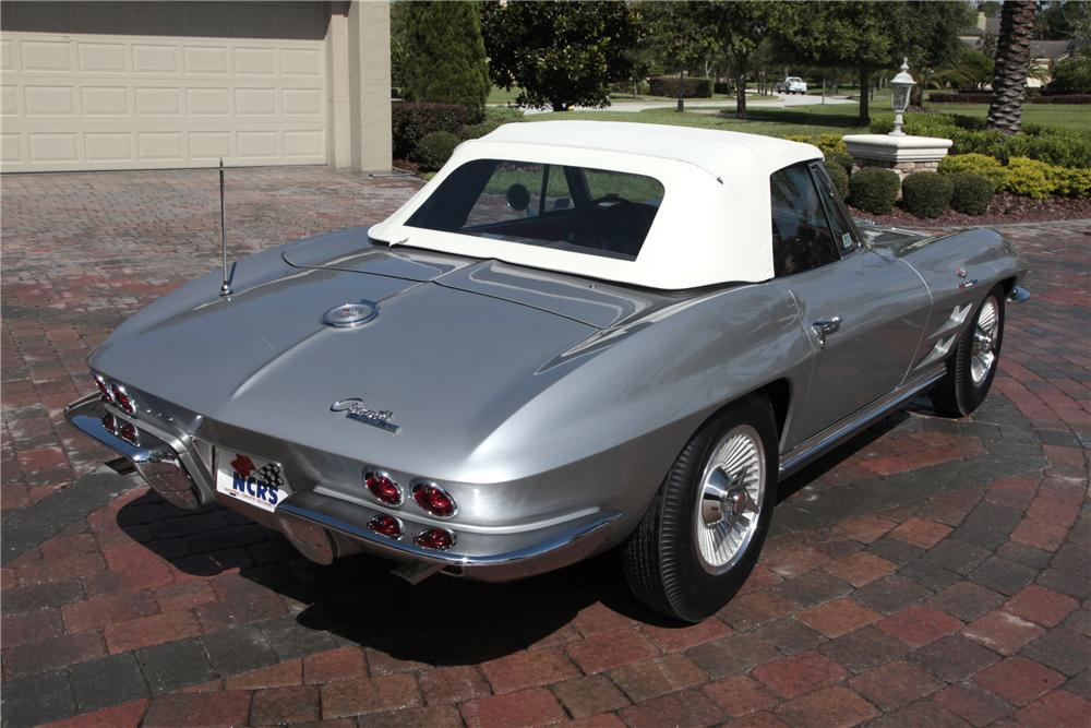 1964 CHEVROLET CORVETTE CONVERTIBLE - Rear 3/4 - 80965