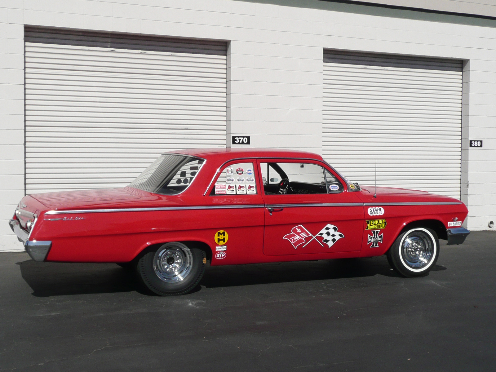 1962 CHEVROLET BEL AIR CUSTOM DRAG CAR - Rear 3/4 - 80980