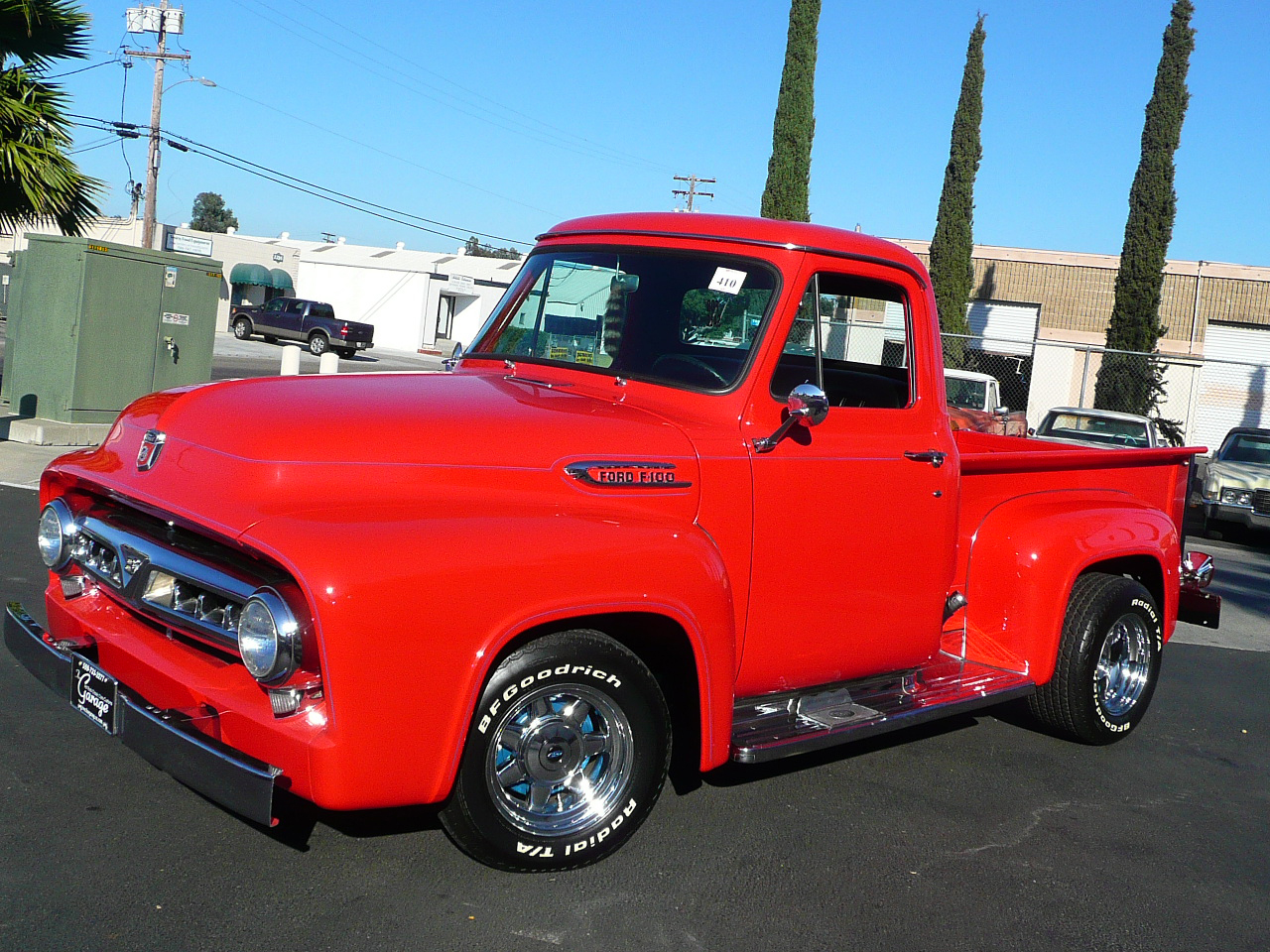 1953 FORD F-100 CUSTOM PICKUP - Front 3/4 - 80986