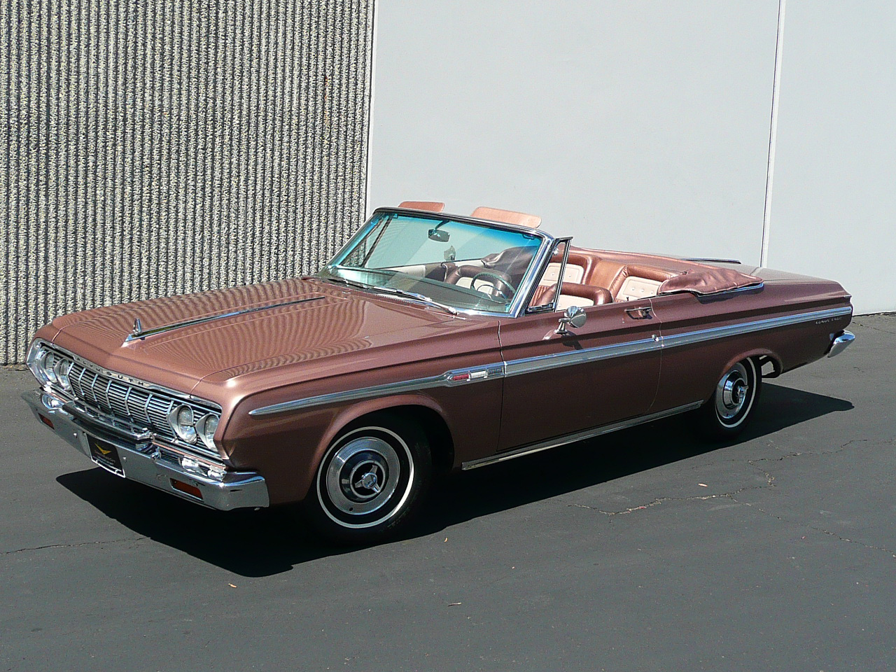 1964 PLYMOUTH SPORT FURY CONVERTIBLE - Front 3/4 - 80987