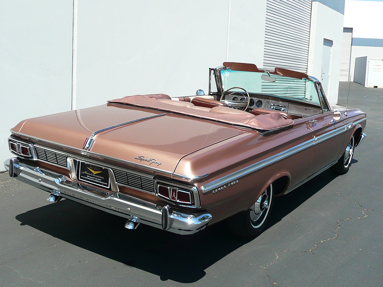 1964 PLYMOUTH SPORT FURY CONVERTIBLE - Rear 3/4 - 80987