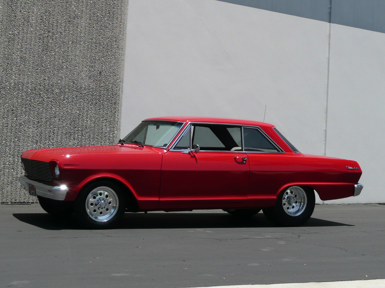 1963 CHEVROLET NOVA SS CUSTOM 2 DOOR HARDTOP - Side Profile - 80989