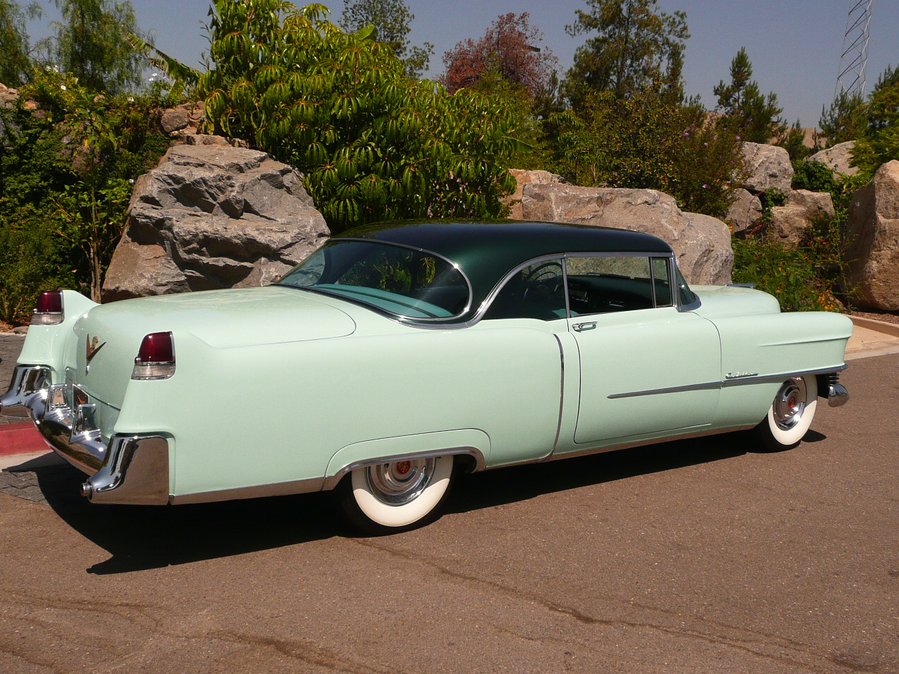 1954 CADILLAC COUPE DE VILLE 2 DOOR HARDTOP - Rear 3/4 - 80995