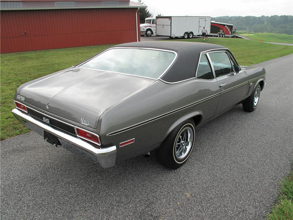 1970 CHEVROLET NOVA SS 396 SPORT COUPE - Rear 3/4 - 80997