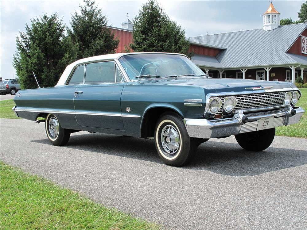 1963 CHEVROLET IMPALA 2 DOOR SPORT COUPE - Front 3/4 - 80998