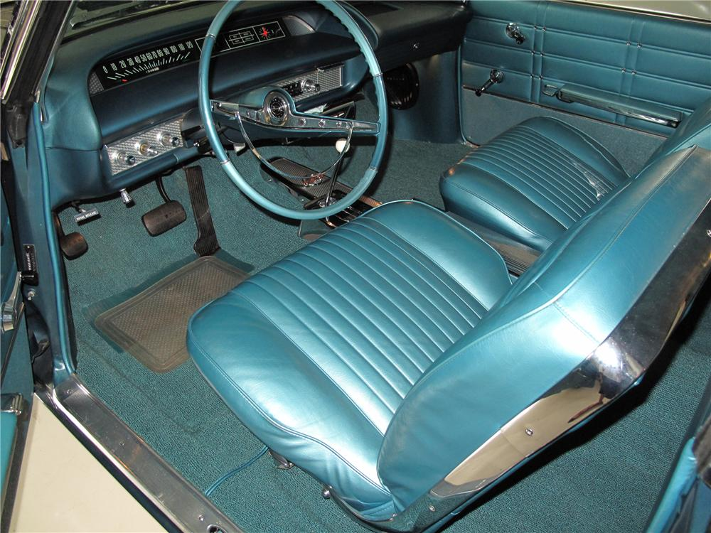 1963 CHEVROLET IMPALA 2 DOOR SPORT COUPE - Interior - 80998