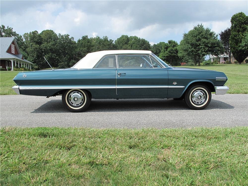 1963 CHEVROLET IMPALA 2 DOOR SPORT COUPE - Side Profile - 80998
