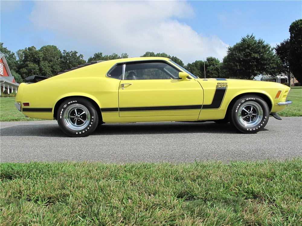 1970 FORD MUSTANG BOSS 302 FASTBACK - Side Profile - 81000