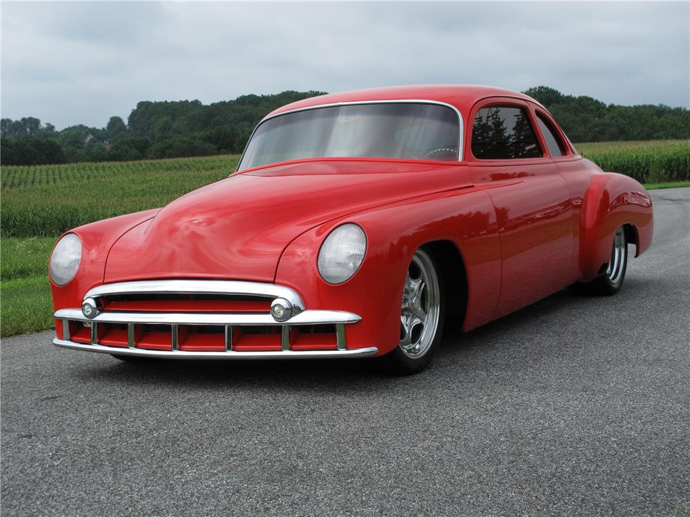 "1949 CHEVROLET CUSTOM BUSINESSMANS COUPE ""M80"" - Front 3/4 - 81020"